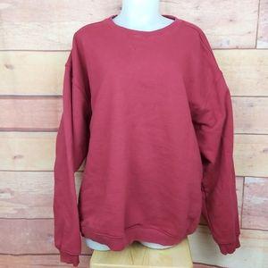 Oversized vintage crew neck red sweater
